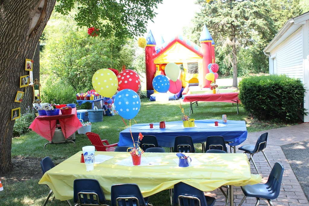 I Let Amy Borrow A Few Decorations From My Daughters Recent Curious George Party That Matched Her Color Scheme Perfectly