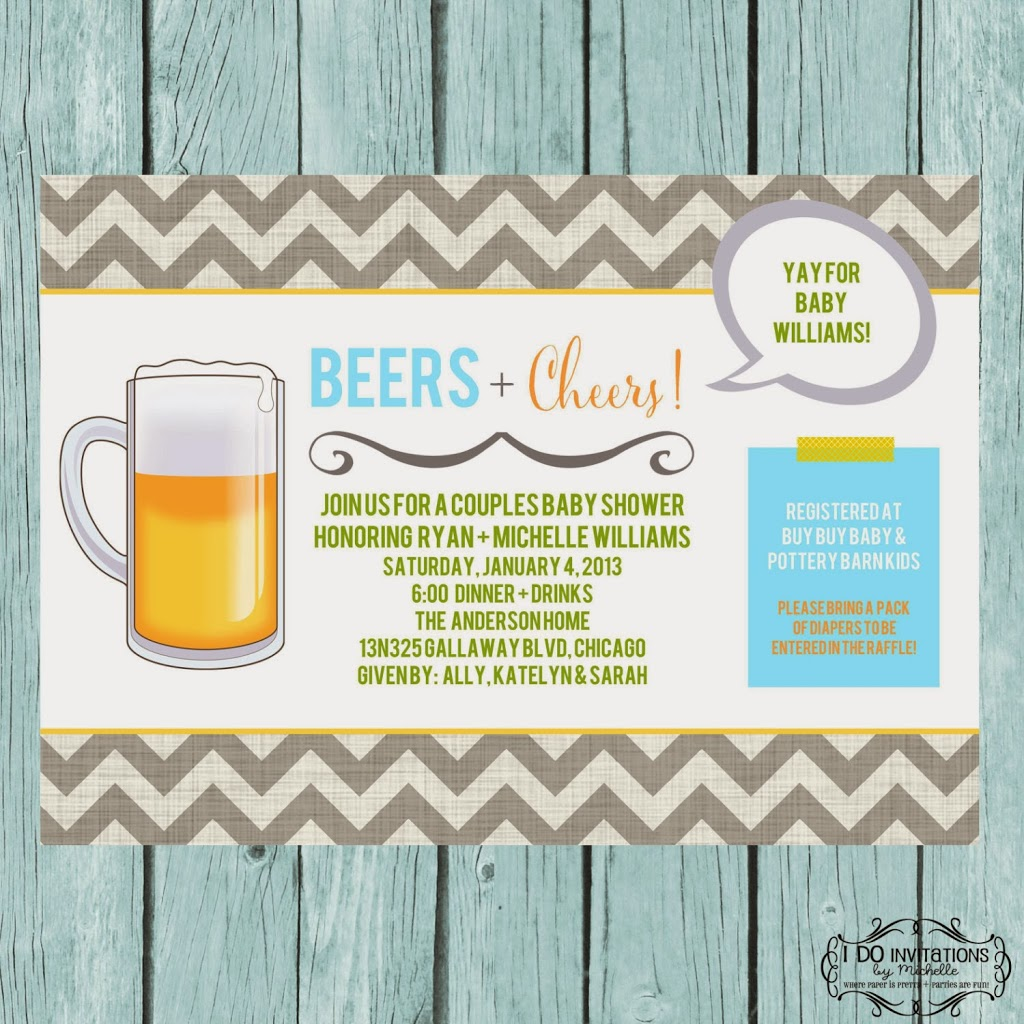Beers + Cheers Couples Baby Shower Invitation – Ellery Designs