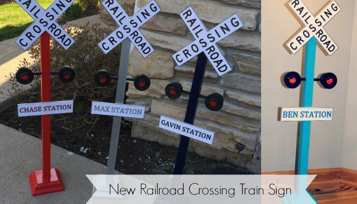 New Personalized Railroad Crossing Train Sign