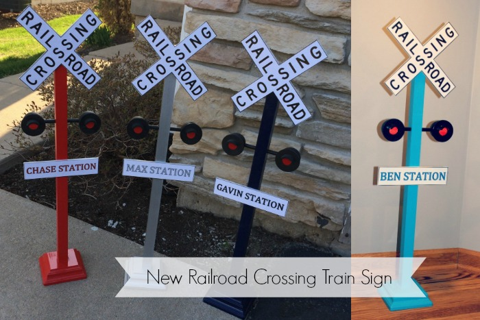 New Personalized Railroad Crossing Train Sign – Ellery Designs