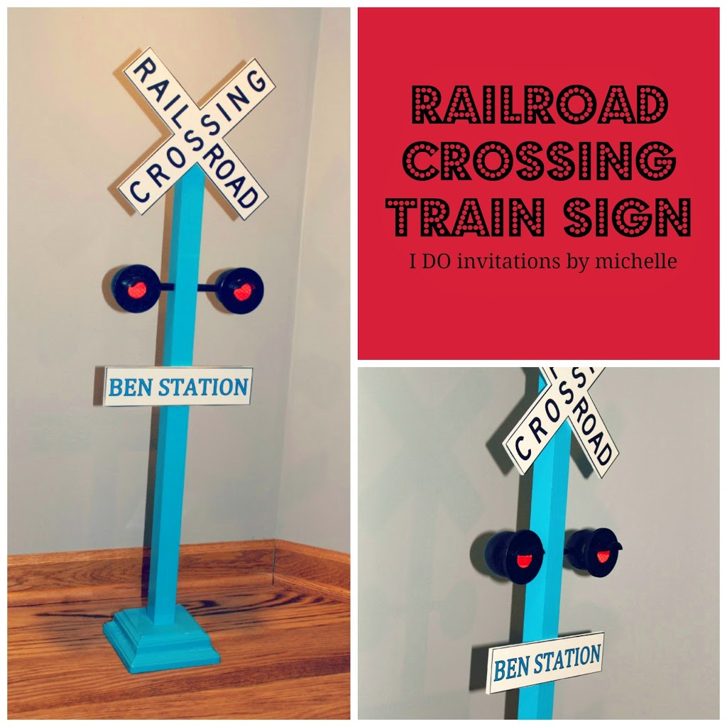 photograph relating to Railroad Crossing Sign Printable known as Clean Custom-made Railroad Crossing Educate Indicator Ellery Plans
