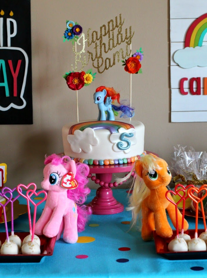 Cami S Rainbow Dash 5th Birthday Party Ellery Designs