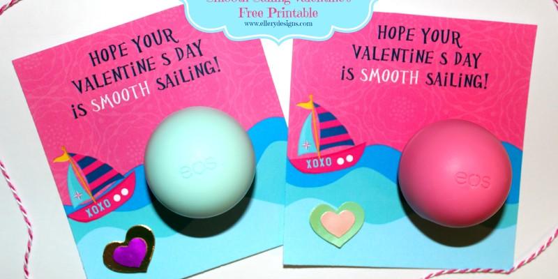 EOS Lip Balm Valentine's Free Printable