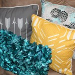 Yellow, Gray + Turquoise Finished Basement