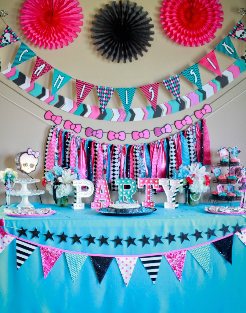 Monster High Bedroom Decorations Monster High Party Camis 6th Birthday Ellery Designs