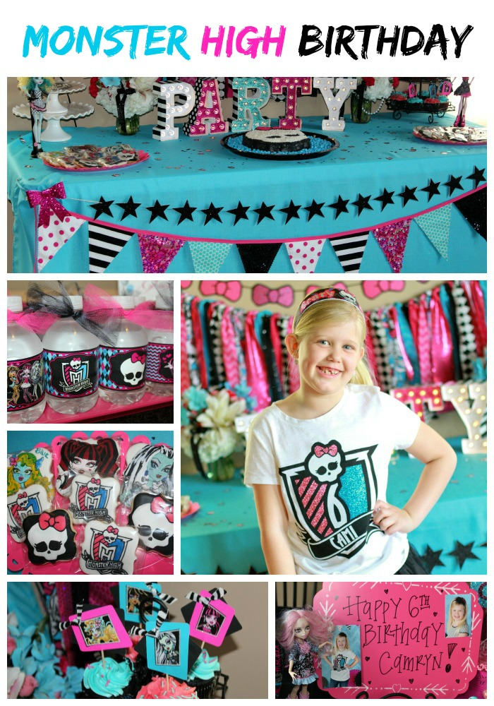 Monster High Party - Cami\'s 6th Birthday! – Ellery Designs