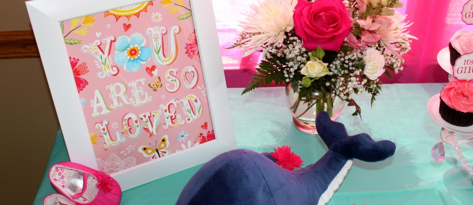 It's a Girl – Navy + Pink Nautical Baby Shower