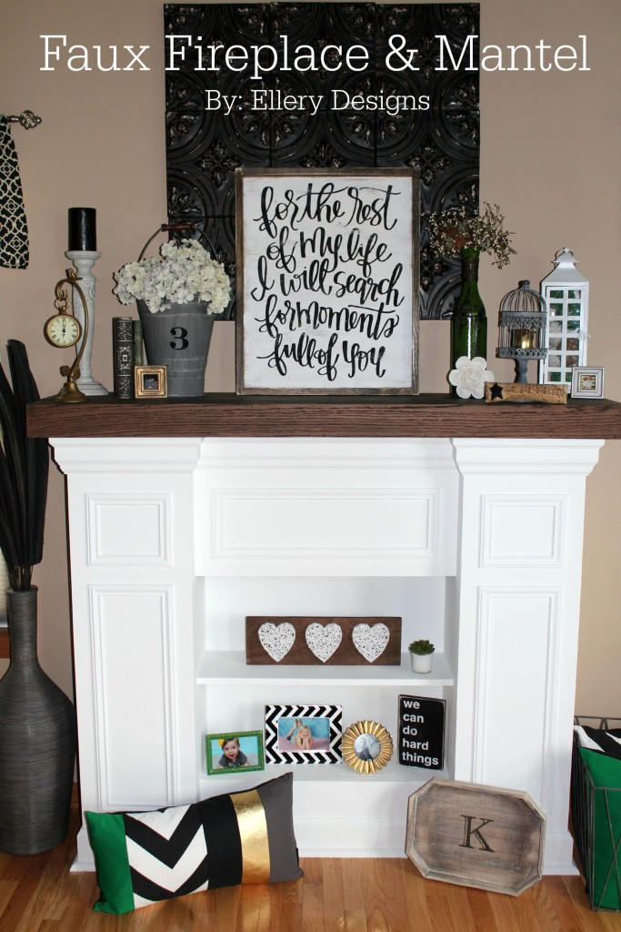 Super Handmade Faux Fireplace + Mantel – Ellery Designs XF49
