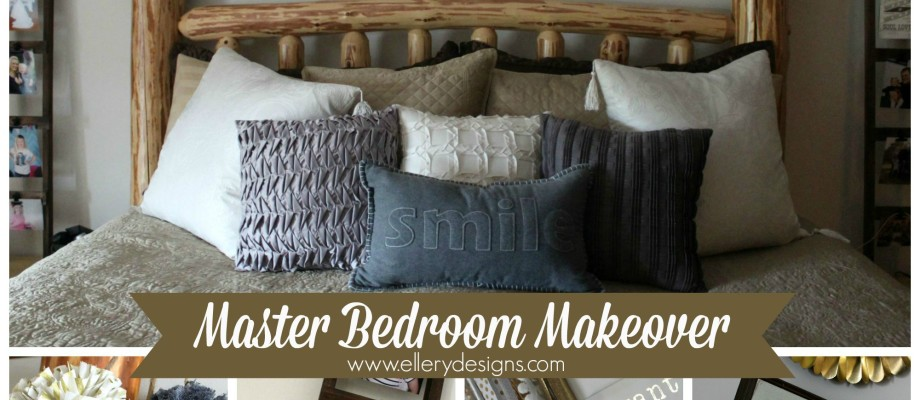 Master Bedroom Makeover – Gold + Gray Rustic Glam