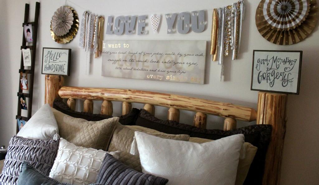 Master Bedroom Makeover - Gold + Gray Rustic Glam – Ellery Designs