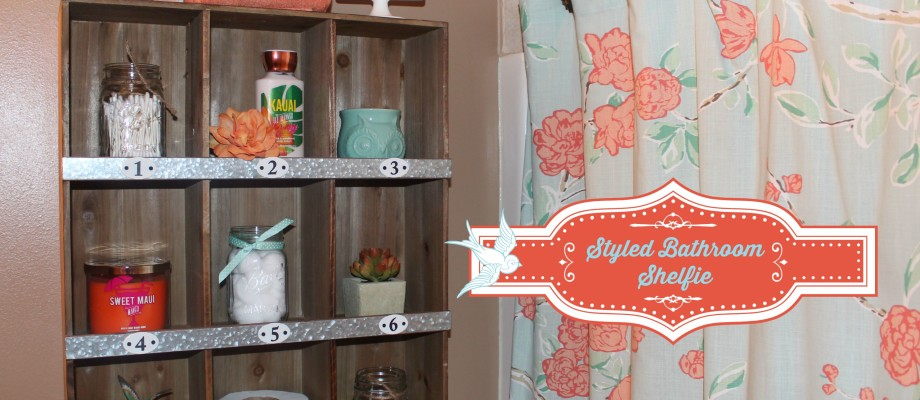 Bathroom Makeover – Styled Target Shelf