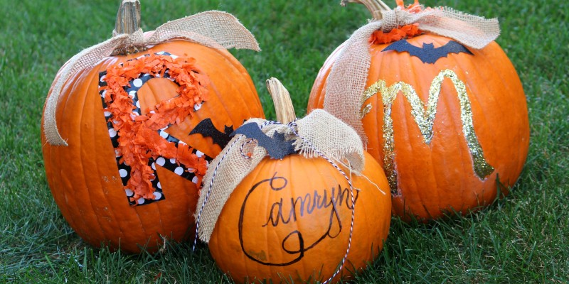 DIY No Carve Pumpkins