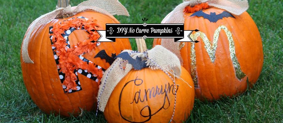 DIY No Carve Pumpkins for Kids