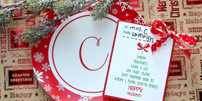 Holiday Teacher Gift & Free Printable