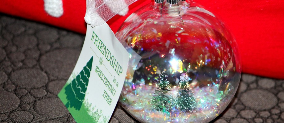DIY Bottle Brush Tree Ornaments