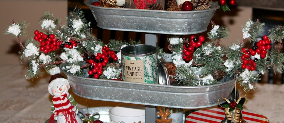 Christmas Galvanized Tray