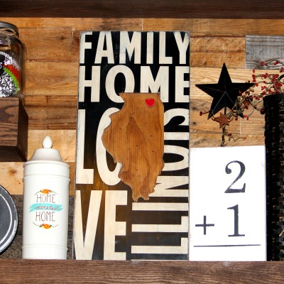 Where We Love Is Home Sign By Barn Owl Primitives