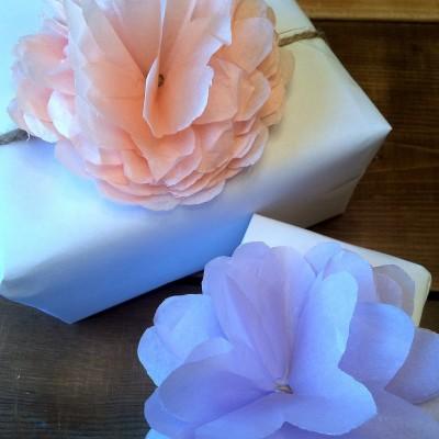 DIY Tissue Paper Poms