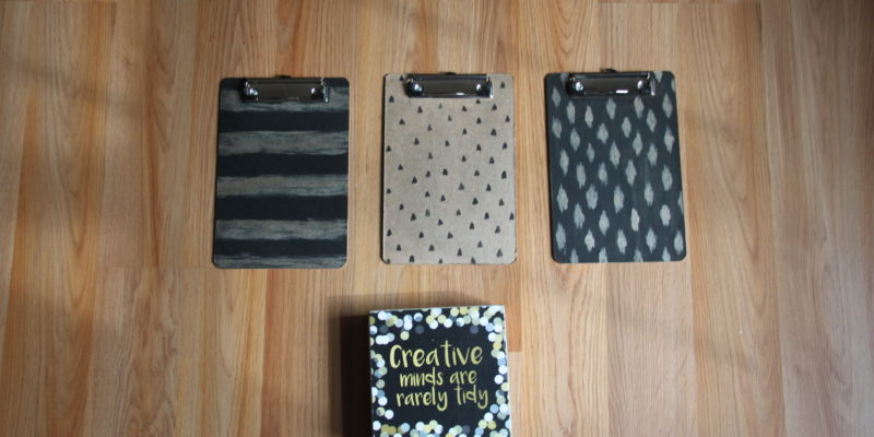 DIY Wall Art Clipboards and Decor
