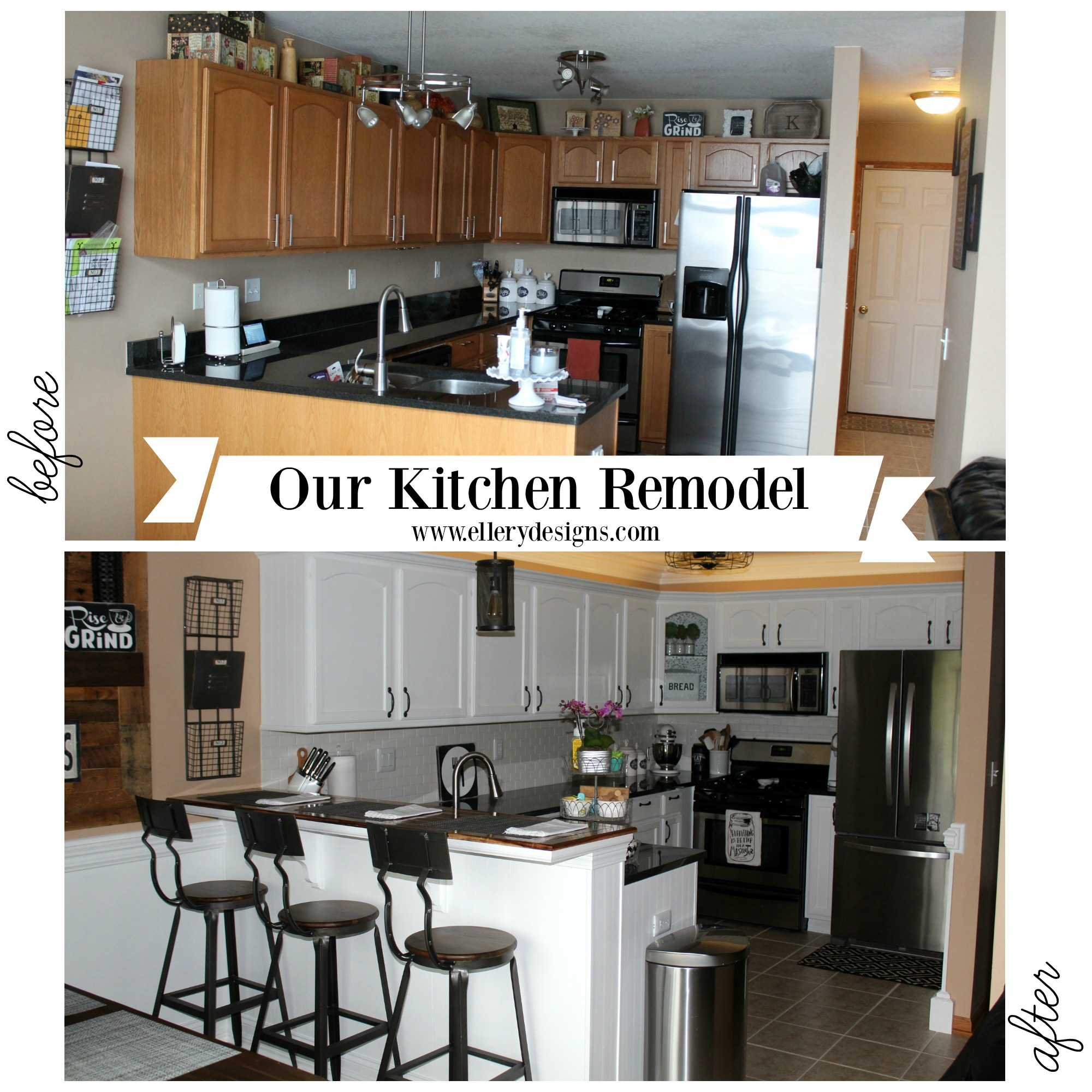 complete kitchen makeover ellerydesignscom. Interior Design Ideas. Home Design Ideas