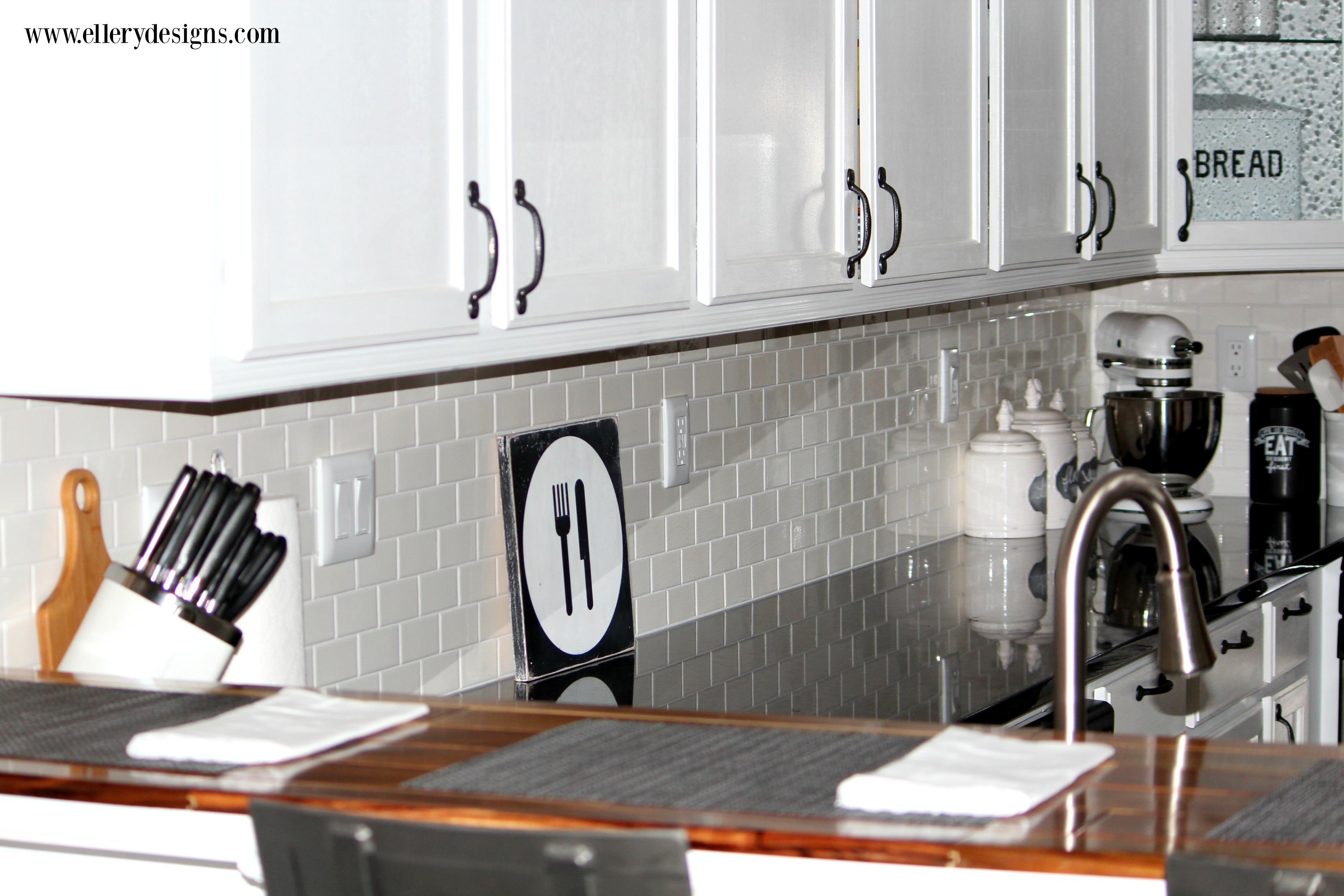 Amazing DIY White Kitchen Renovation by Ellery Designs