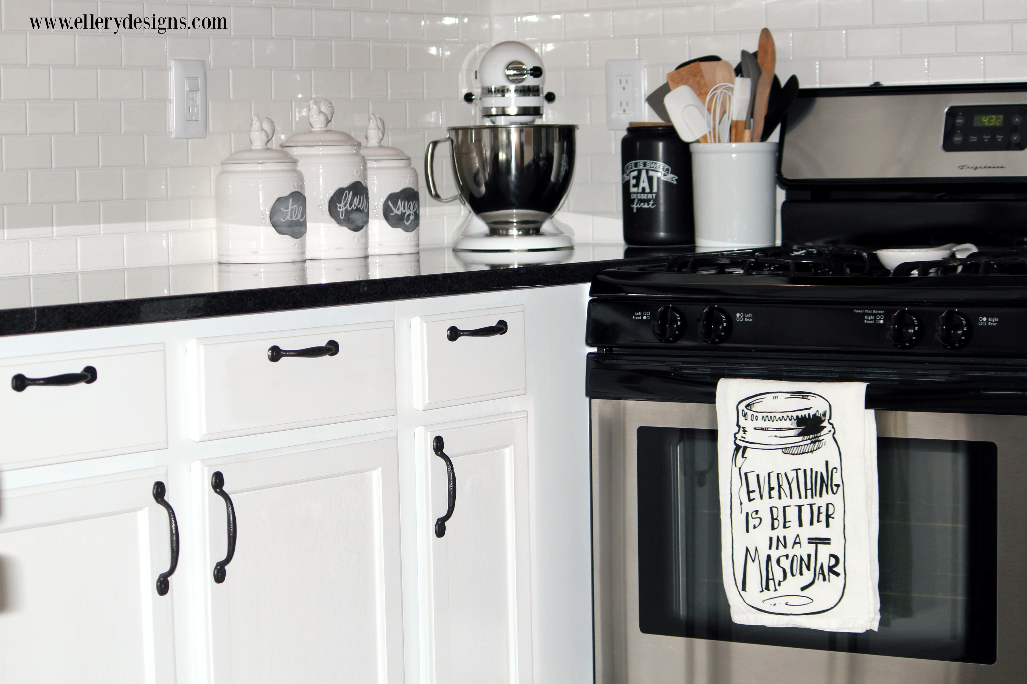 Beautiful White Kitchen Remodel - ElleryDesigns.com