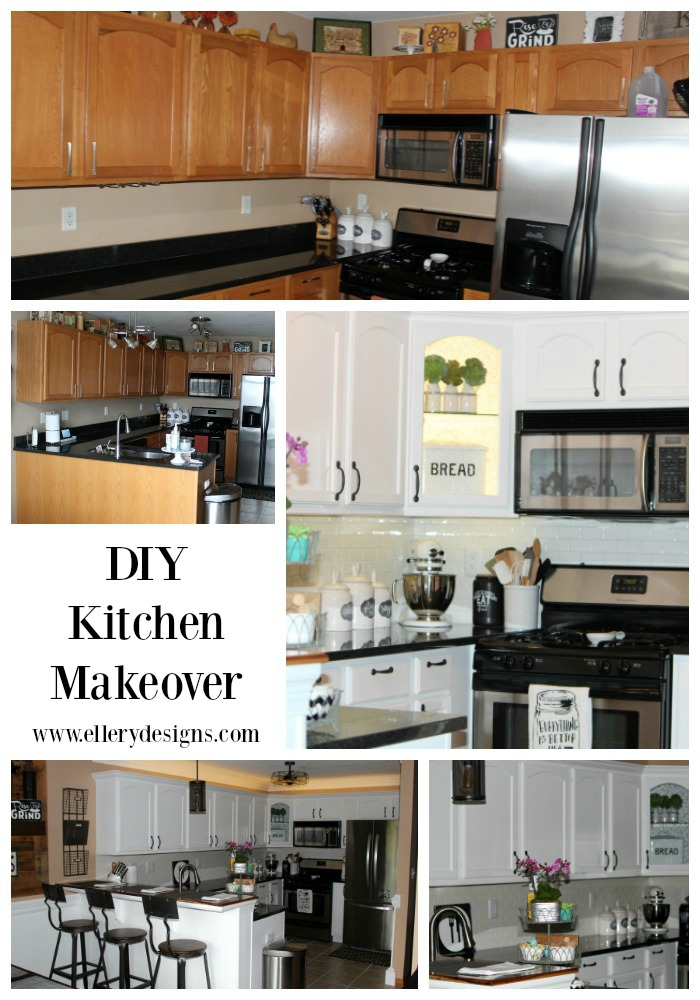Beautiful DIY Kitchen Makeover by Ellery Designs
