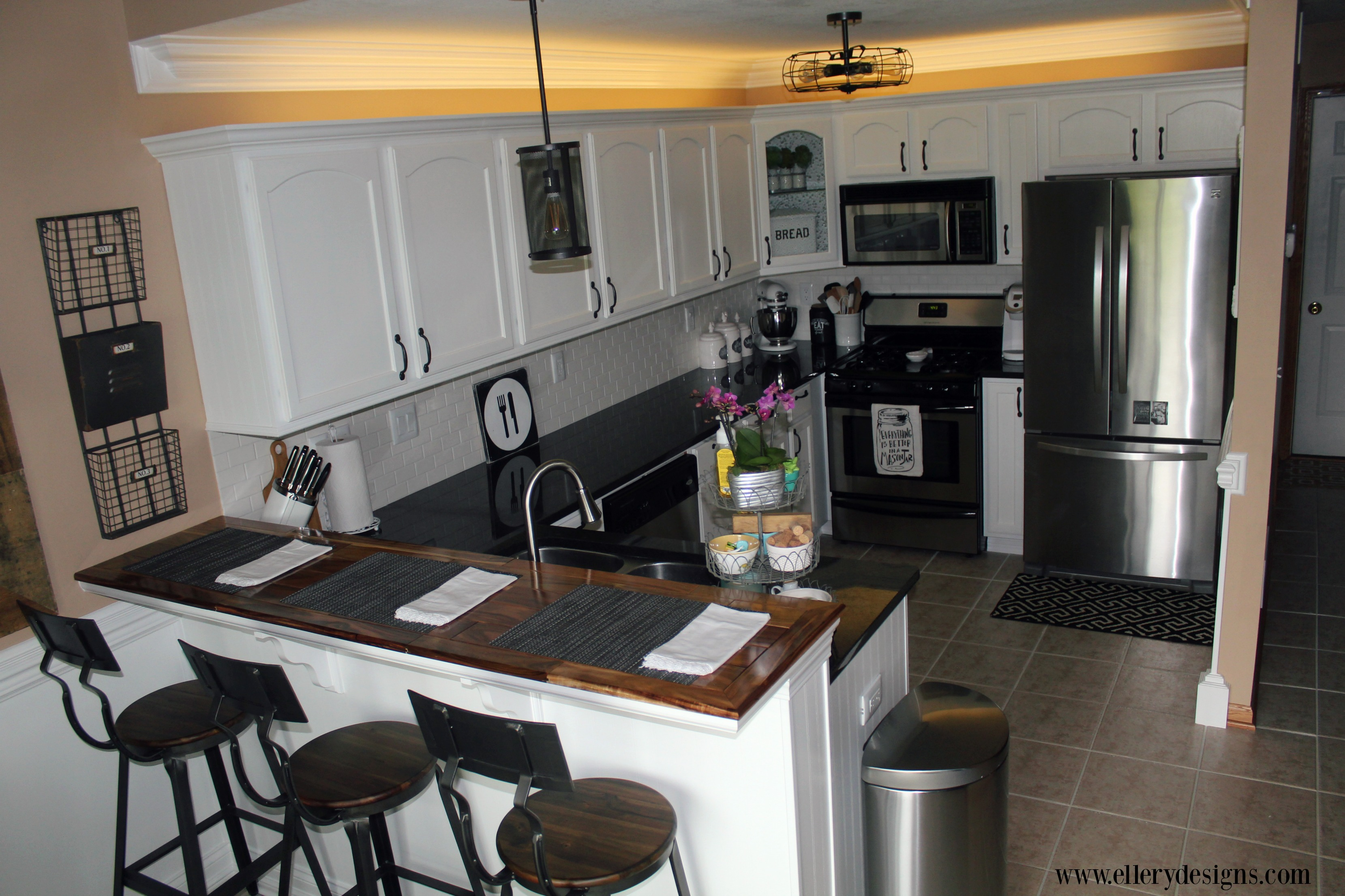 Amazing DIY Kitchen Remodel by Ellery Designs