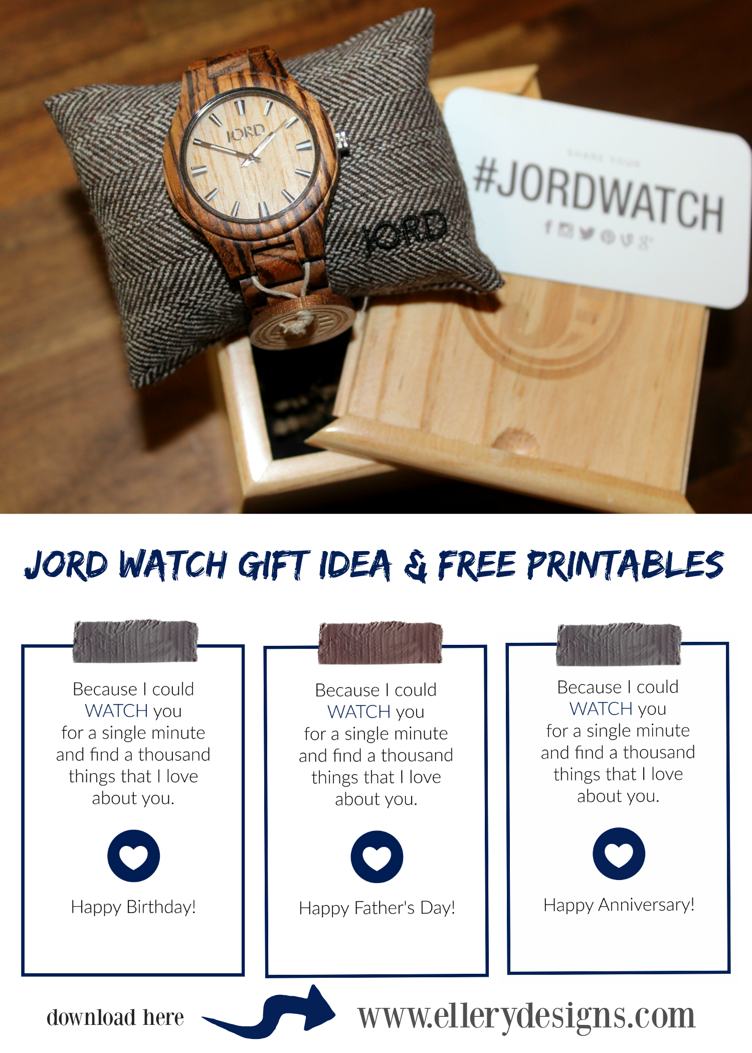 Jord Wood Watch Gift Idea, Free Printable & Giveaway!