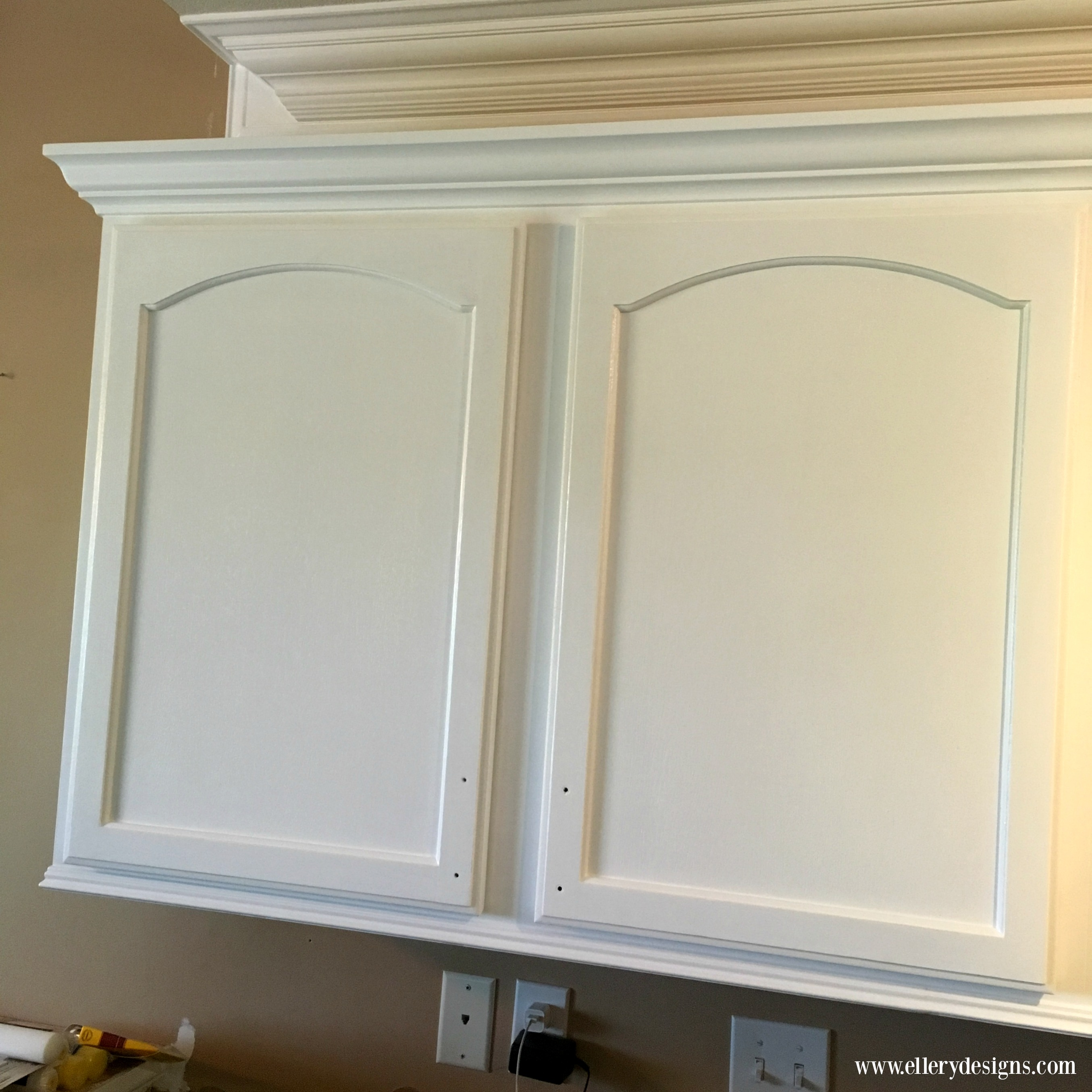 Our Diy Kitchen Remodel Painting Your Cabinets White Ellery Designs