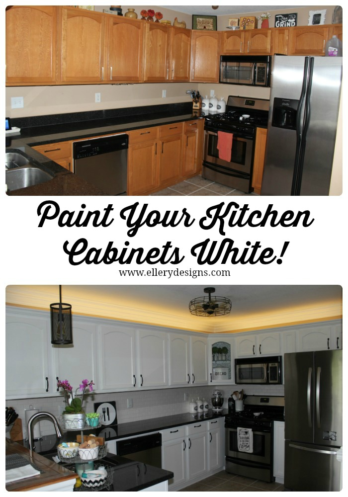 Painting Your Kitchen Cabinets White – DIY Tutorial