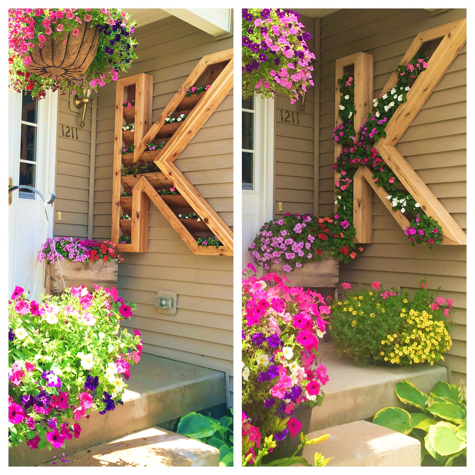 DIY Cedar Monogram Planter
