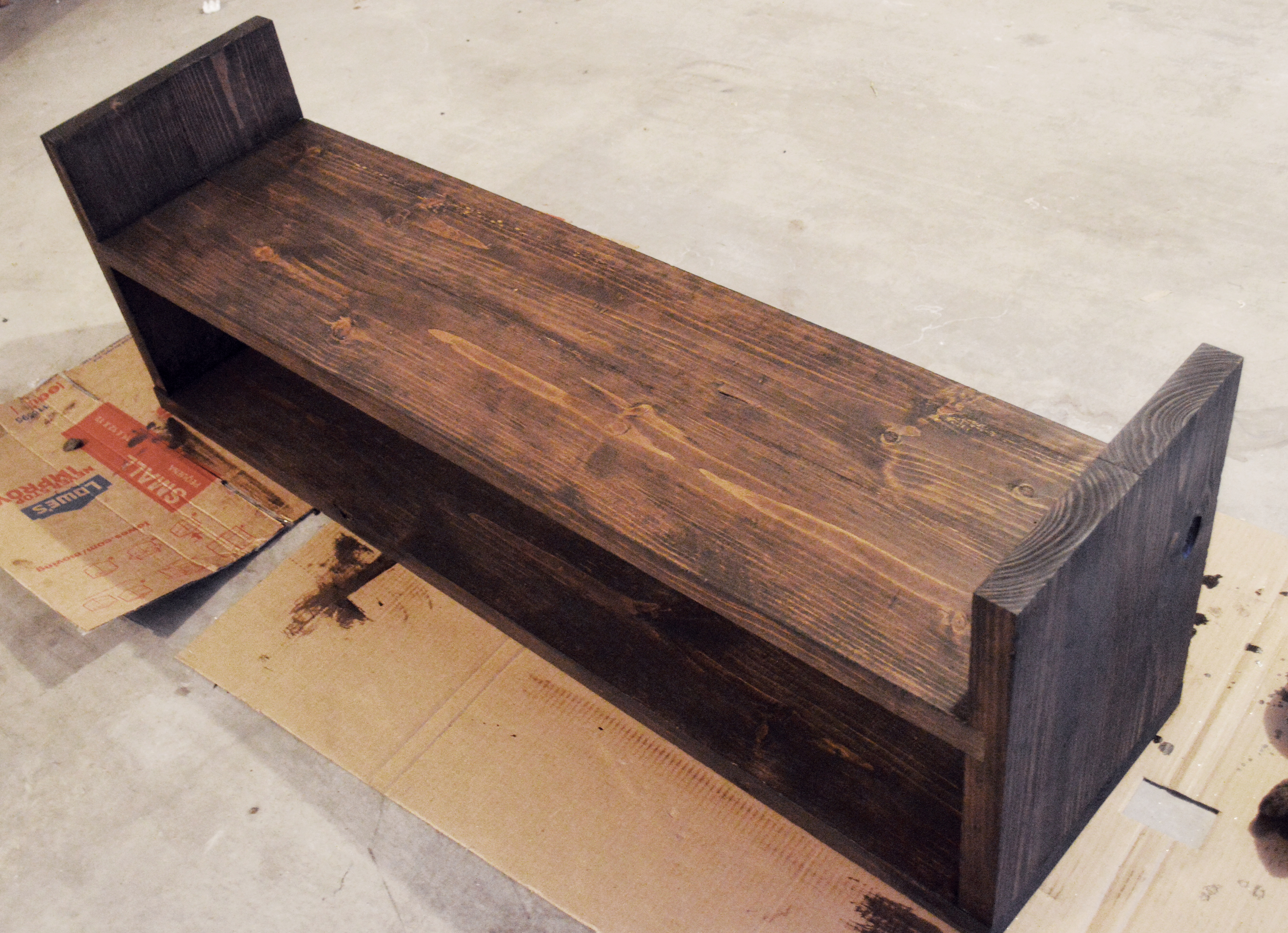 Rustic Chic DIY: Stain and Distress like a Pro The Riojas House for ElleryDesigns.com