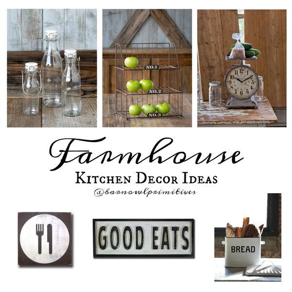 Farmhouse Kitchen Decor at Barn Owl Primitives