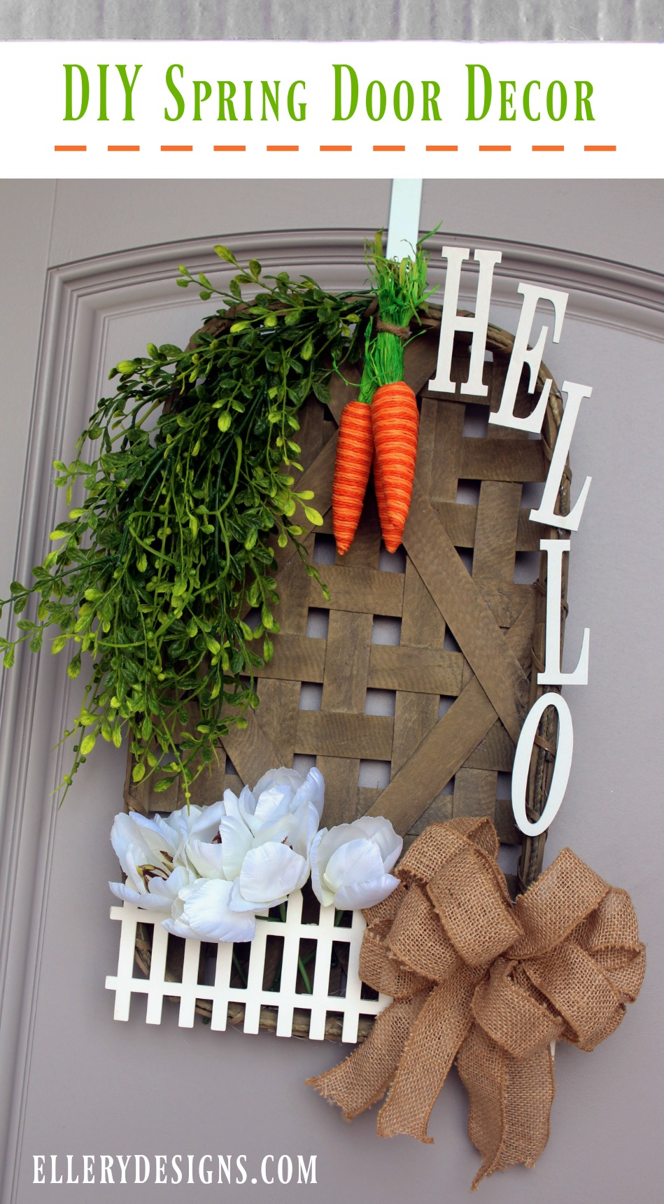Front door decorations for spring - Spring Is Officially Here And I Couldn T Be More Excited Best News You Can Create This For Well Under 50 And It Won T Take Up Much Of Your Time Yay