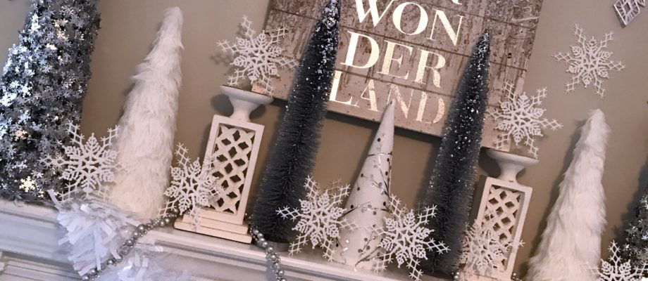 Winter Wonderland Holiday Mantel
