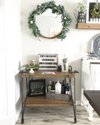 Affordable Bar Cart Styling
