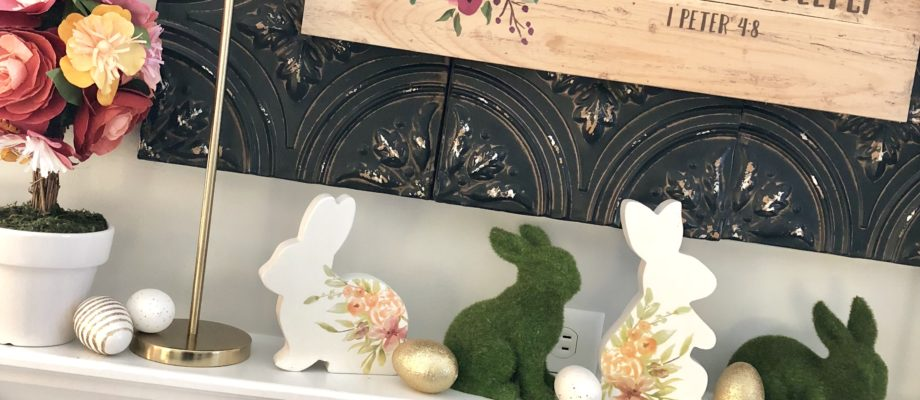 Spring Mantel Decor for Easter