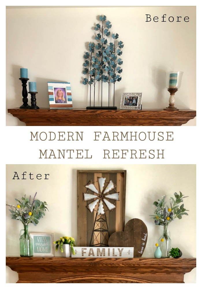 Decorate A Mantel With Modern Farmhouse Style Ellery Designs