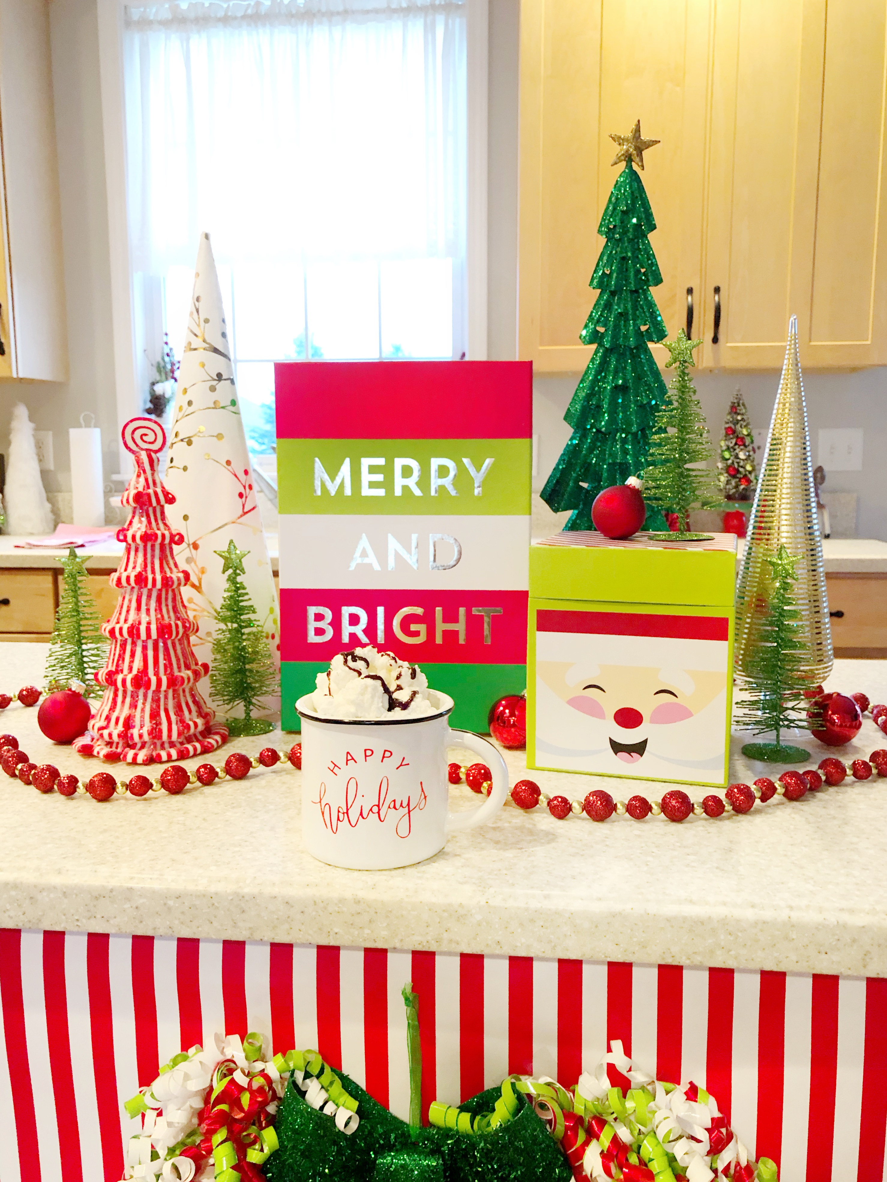 Decorating Your Kitchen Island For Christmas With Hobby Lobby