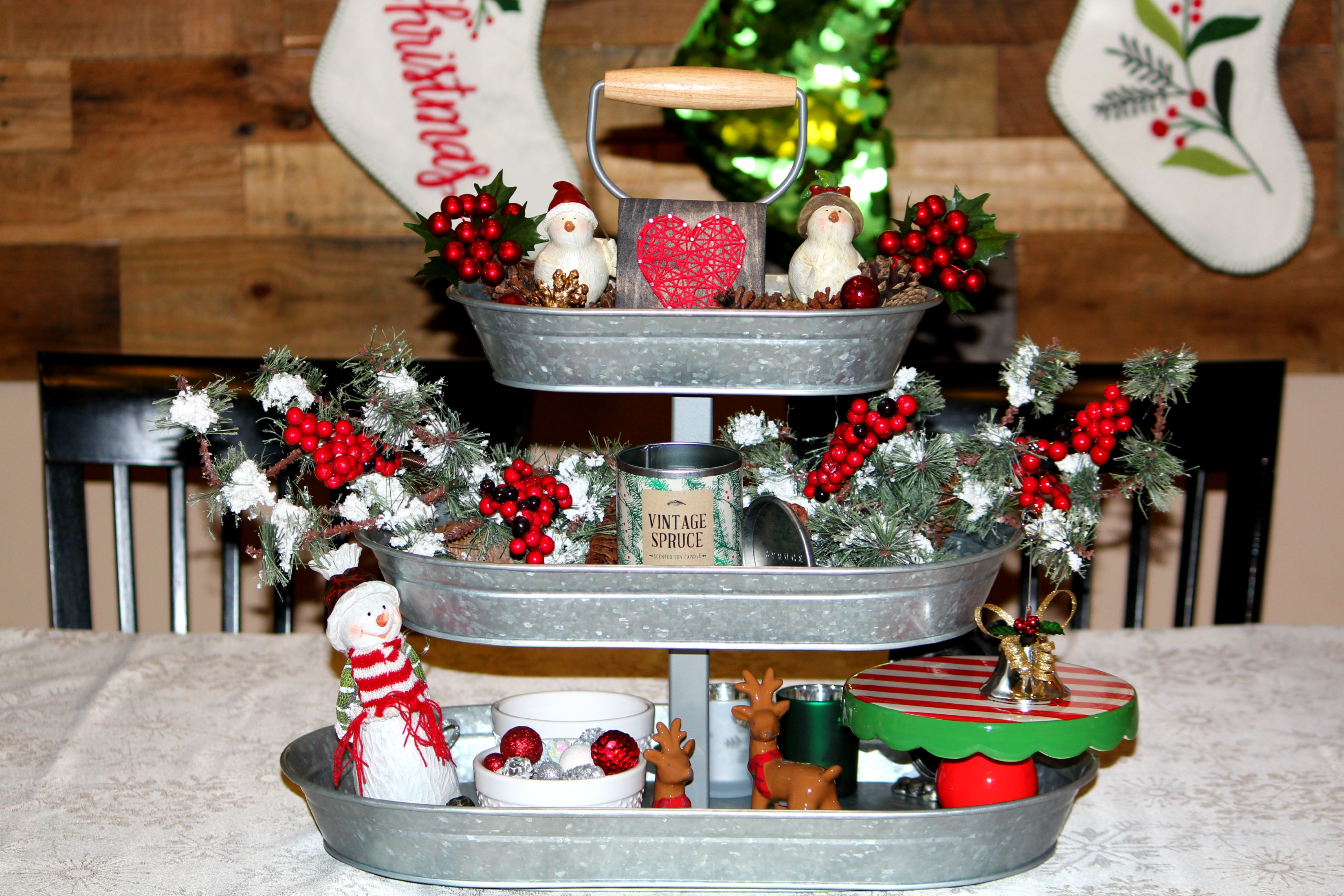 Christmas Galvanized Tray Decor Ellery Designs